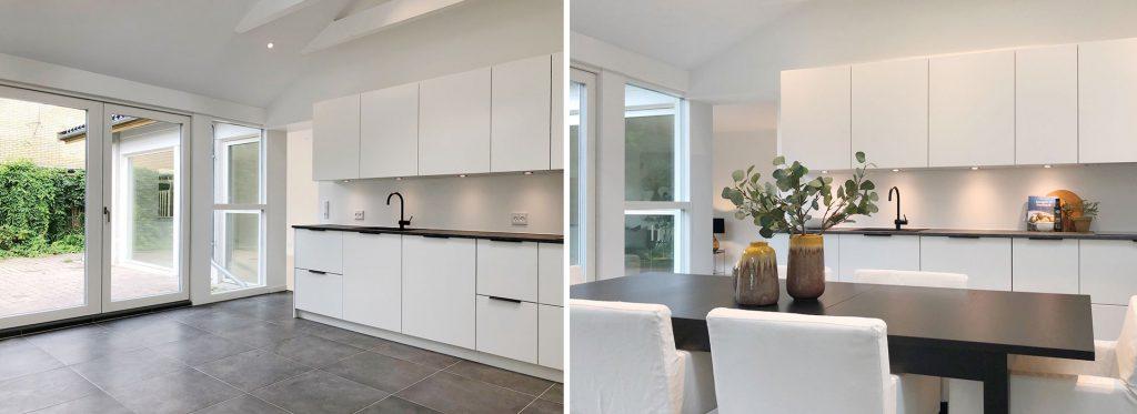 Din bolig bliver bedre præsenteret på boligmarkedet, når du skal sælge. Her ser du før- og efter-effekten af en Full Styling fra InBoligStyling.