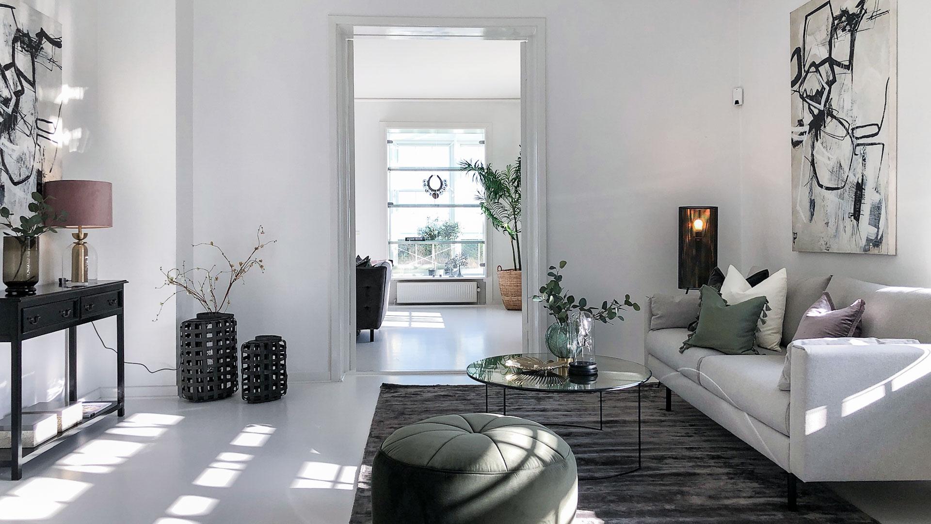 Luksuriøs boligstyling ved boligsalg – her en dLux Styling fra InBoligStyling